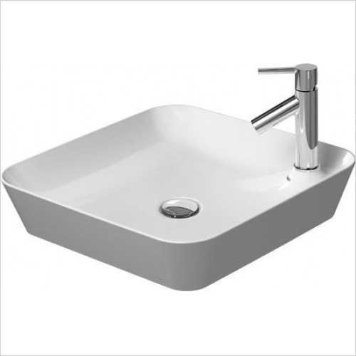 Duravit - Basins - Cape Cod Washbowl Square 460mm With Tap Dome 1TH