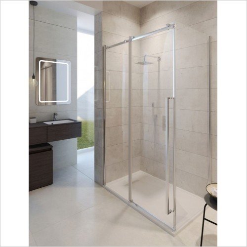 Simpsons Shower Enclosures - Pier 1200mm Single Slider Shower Door