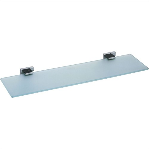 VADO Accessories - Level Frosted Glass Shelf 530mm (21'') Wall Mounted