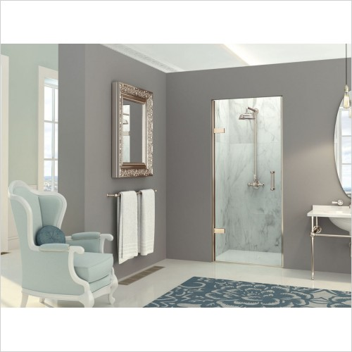Matki Shower Enclosures - Hinged Door From Wall For Recess 700mm