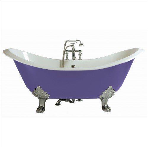 Heritage Bathtubs - Devon 1800 x 770mm Slipper Cast Iron DE Bath 2TH