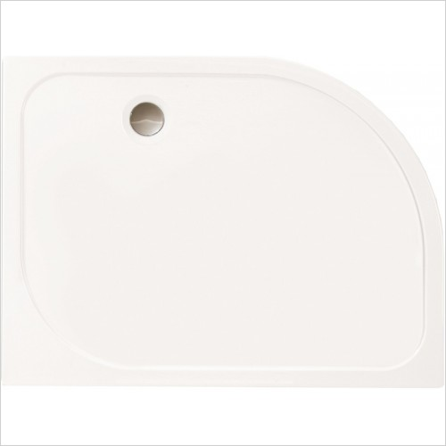 Merlyn Shower Enclosures - MStone Offset Quad Shower Tray 900 x 760 LH