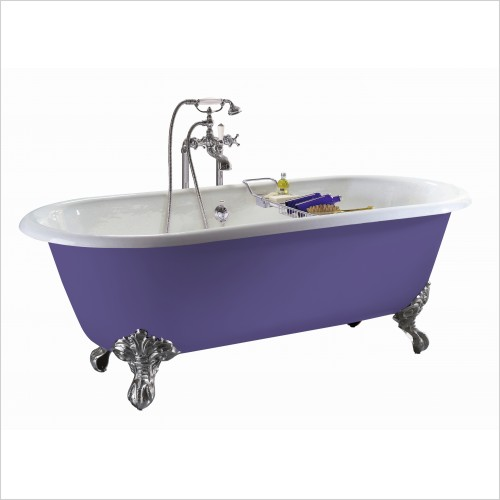 Heritage Bathtubs - Baby Buckingham Roll Top Cast Iron Bath, 2 Tap Hole
