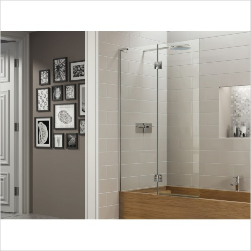 Matki Shower Enclosures - Double Panel Bath Screen 900mm