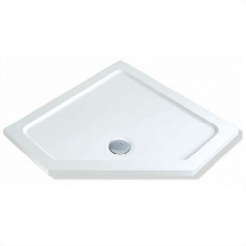 MX Shower Trays - DuraStone 900 x 900mm Pentangle Tray, ABS Stone Resin