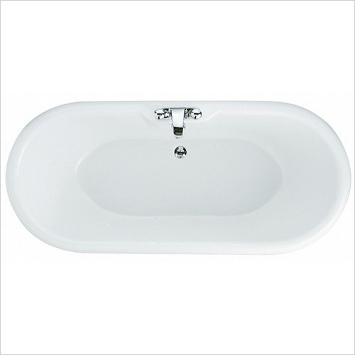 Portobello White Freestanding Bath 1765x780mm - Ash Feet