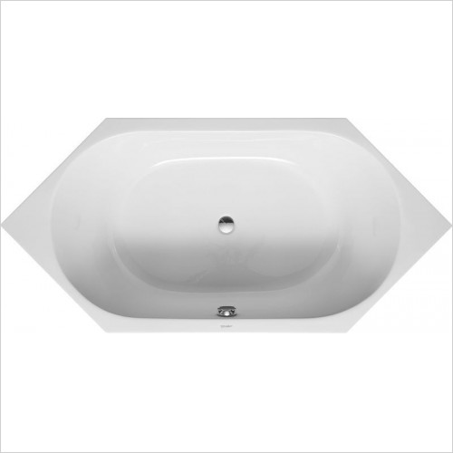 Duravit Baths - D-Code Bathtub 1900x900mm Hexagonal With 2 Backrest Slopes