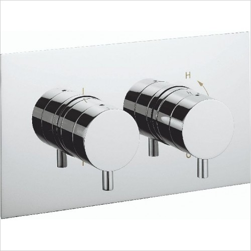 Crosswater Showers - Kai Lever Thermo Shower Valve 2 Control (Landscape)