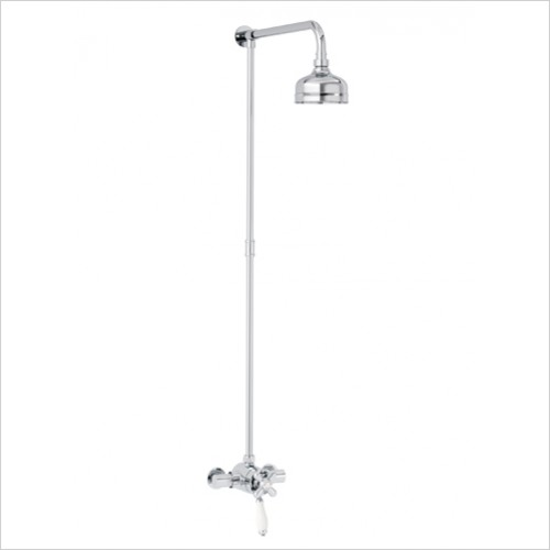 Heritage Showers - Ryde Dual Control Exposed Mini Shower Valve With Rigid Riser