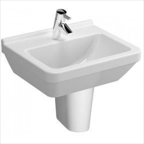 Vitra Basins - S50 Washbasin 50cm Square 1TH