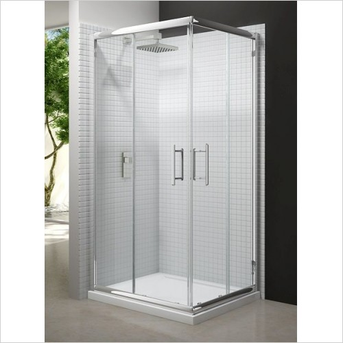 Merlyn Shower Enclosures - 6 Series Corner Door 900mm Incl MStone Tray