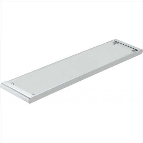 VADO Accessories - Photon Clear Glass Shelf 573mm (23'')
