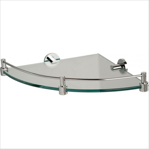 Miller Accessories - Classic Corner Shelf With Chrome Brackets