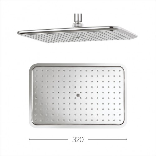 Crosswater Showers - Essence 320 x 210mm Fixed Head with AI System