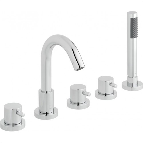 VADO Showers - Zoo 5 Hole Bath Shower Mixer Deck mounted