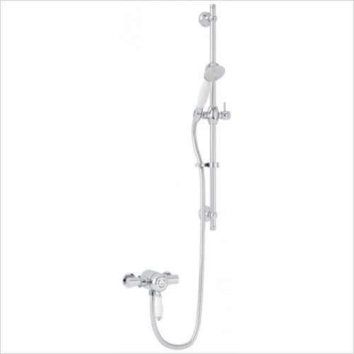 Heritage Showers - Ryde Single Control Exposed Mini Valve With Adjustable Riser