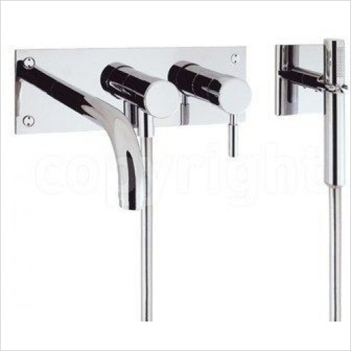 Crosswater Showers - Design Bath 3 Hole Set With Kit, Wall Mounted
