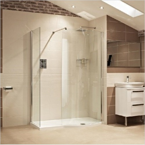 Roman Shower Enclosures - Lumin8 Colossus & 2 Side Panels 1450mm