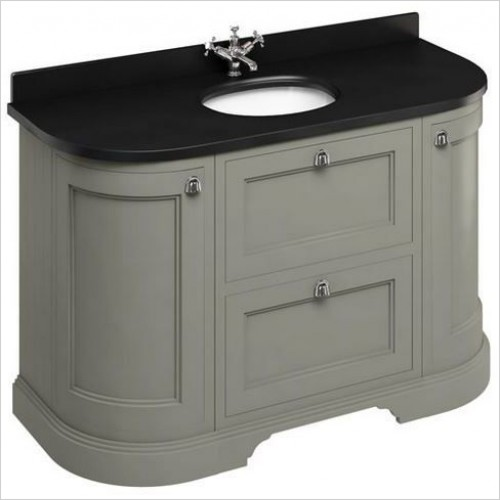 Burlington Furniture - 1340 Freestanding Unit, Drawers & 2 Round Corner Cupboards