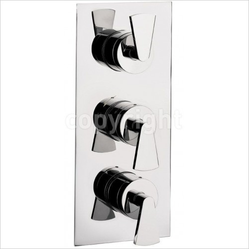 Crosswater Showers - Essence Thermostatic Shower Valve 3 Control (Portrait)