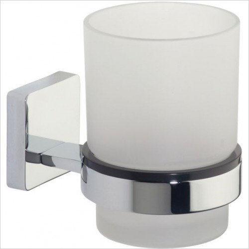 Roper Rhodes Accessories - Glide Frosted Glass Tumbler & Holder