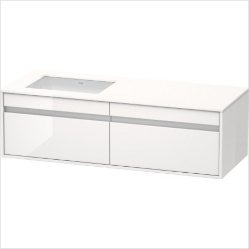 Duravit Furniture - Ketho Vanity Unit 550x1400mm - Left Handed - KT6857