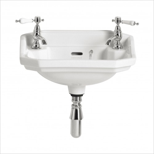 Heritage Basins - Granley Baby Basin 2 Tap Hole