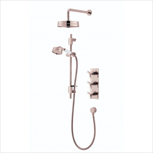 Heritage Showers - Hemsby Recessed Shower With Deluxe Fixed Head