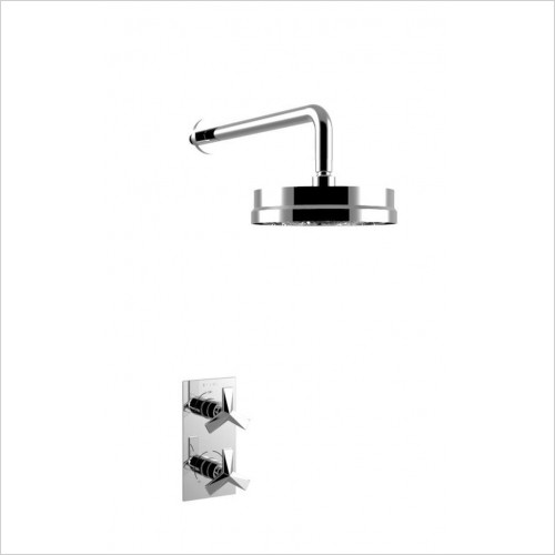 Heritage Showers - Hemsby Dual Control Recessed Valve With Fixed Head