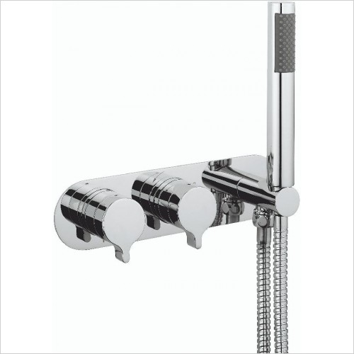Crosswater Showers - Svelte Thermo Shower Valve 2 Control (Landscape)