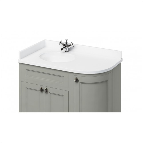 Burlington Basins - Minerva 1300 LH Top With Vanity Bowl
