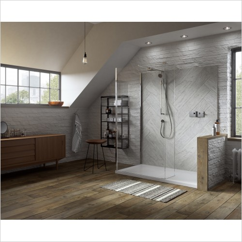 Matki Shower Enclosures - Boutique Corner, Raised Tray & Mixer 1500 x 800mm LH