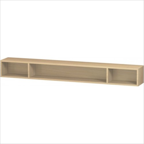 Duravit Furniture - L-Cube Shelf 120x1000x140mm 3 Compartments