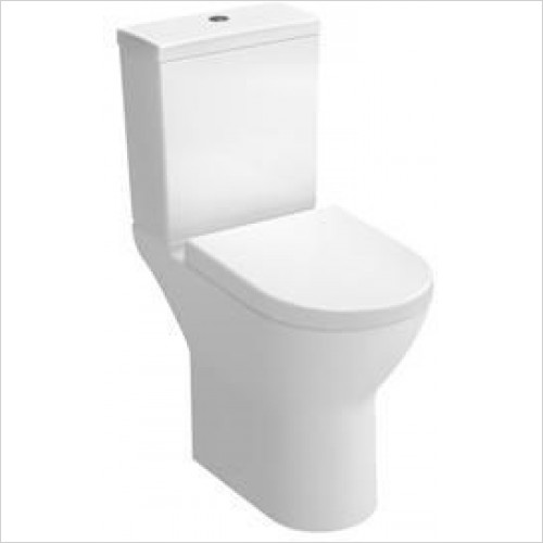 Vitra Toilets - S50 Comfort Height Close-Coupled Open Back WC Pan