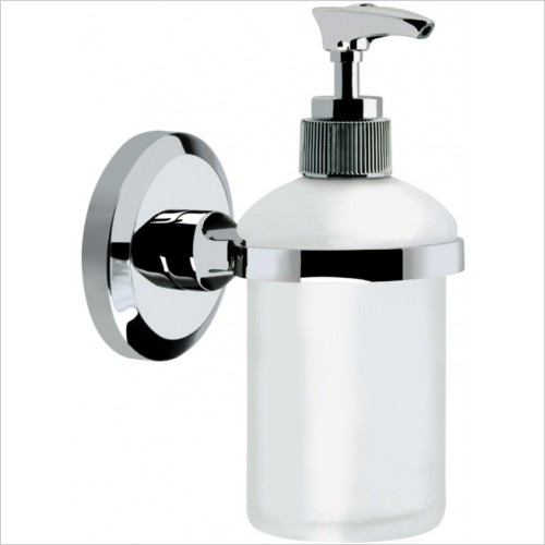 Bristan Accessories - Solo Wall Mounted Frosted Glass Soap Dispenser