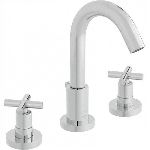 Elements Water 3 Hole Basin Mixer Deck Mounted