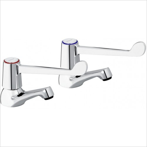 Bristan Taps - Lever Basin Taps With 6'' Lever & Ceramic Disc Valves