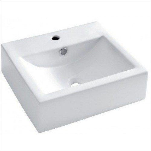 Bauhaus Basins - Bolonia Wall Mounted Basin With Overflow 510mm