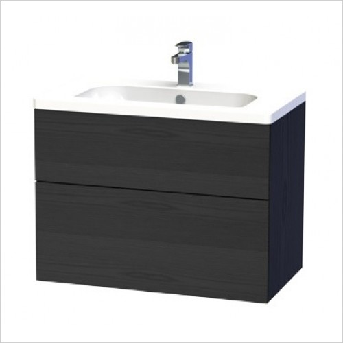 Miller Furniture - New York Vanity Unit 80cm With 2 Drawers