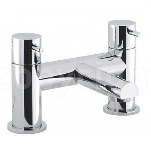 Crosswater Taps - Kai Lever Bath Filler, Deck Mounted