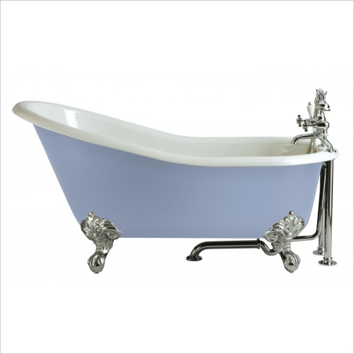 Heritage Bathtubs - Kent 1550 x 765mm Slipper Cast Iron Bath No Tap Hole