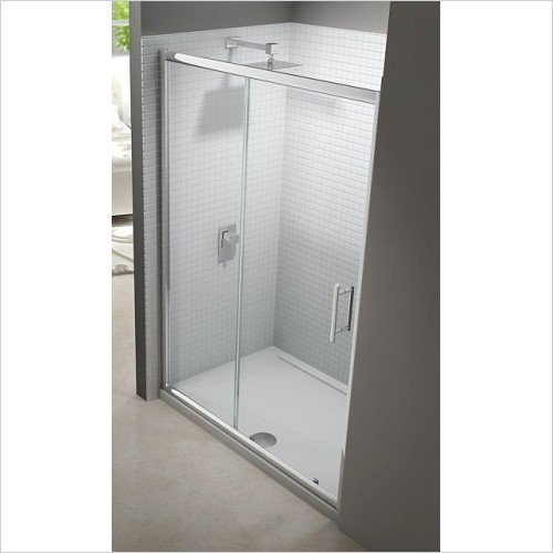 Merlyn Shower Enclosures - 6 Series Sliding Door 1000mm Incl MStone Tray