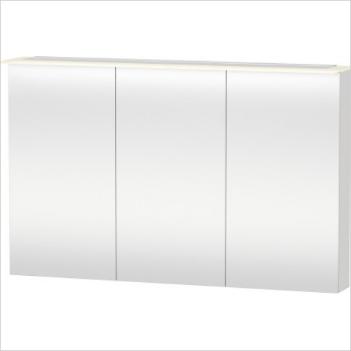 Duravit Furniture - X-Large Mirror Cabinet 760x1200x138 - White High Gloss