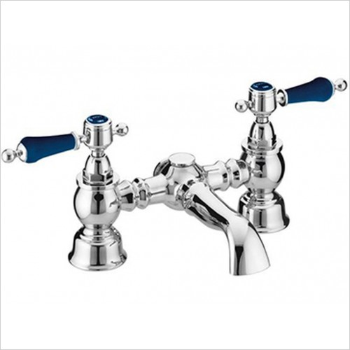 Glastonbury Bath Filler With Blue Levers