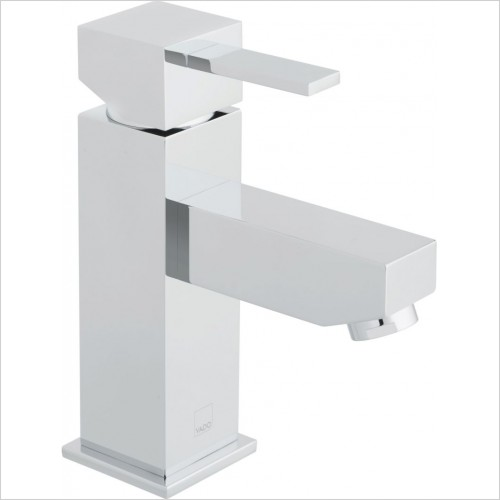 VADO Taps - Té Mono Basin Mixer Single Lever Smooth Bodied Deck Mounted