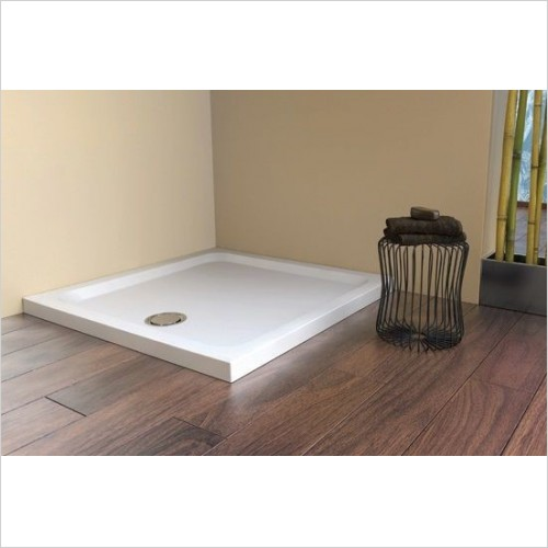 Matki Shower Enclosures - Fineline 60 Raised Shower Tray 2 Upstands 1200 x 800mm RH