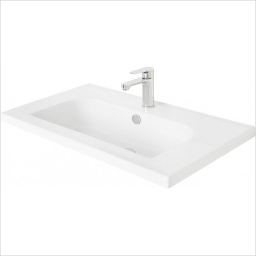 Miller Optional Accessories - London/New York Basin D Shaped For 589/289 Vanity 81cm