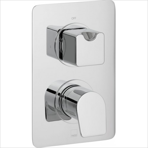 VADO Showers - Photon 1 Outlet 2 Handle Concealed Thermostatic Shower Valve