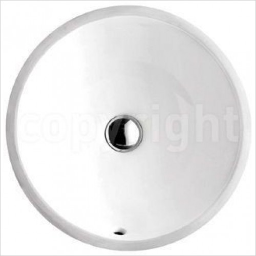 Crosswater Basins - Cerdena Hidden Basin With Overflow 370mm