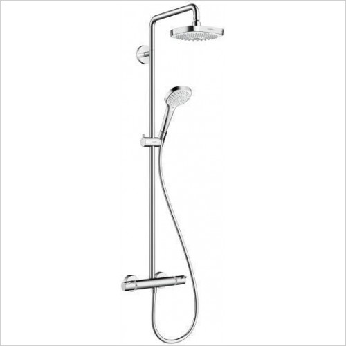 Hansgrohe Showers - Croma Select E 180 2 Jet Shower pipe Full Set